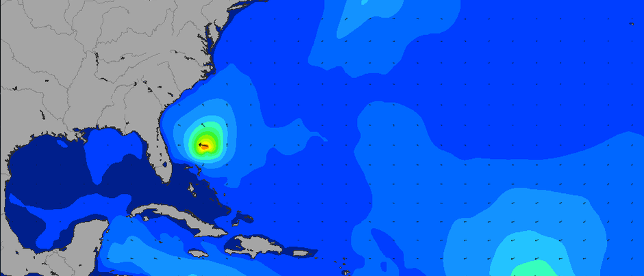 TS Chantal Surf Outlook