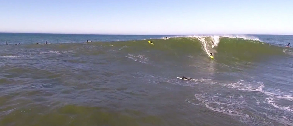 A Fun Day at Mavericks from the Air