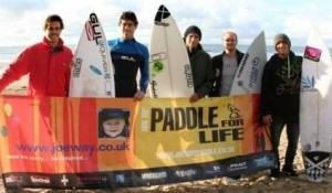The UK's best surfers get ready for the Paddle for Life 2011