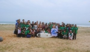 Surfing Hainan Beach Clean Up