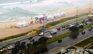 Rain and Messy Conditions Force Lay Day for Billabong Girls Pro Rio