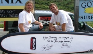 Ben Skinner supports the Joe Way Paddle for life