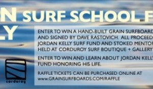 Raffle for a wood fish made at Grain Surfboards, Signed by Rasta