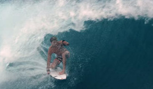 Kolohe Andino Orders Pizza Hut Mid Tube at Teahupoo