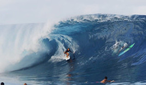 Frankie at 16 Surfing Teahupoo