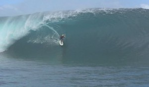 Kauli Vaast Charging Teahupo'o at 12 Years Old