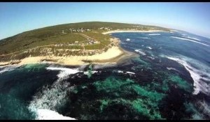 Flight over Surfers Point, Margaret River