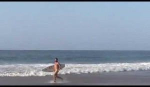 Nude Surfing Somewhere in Angola